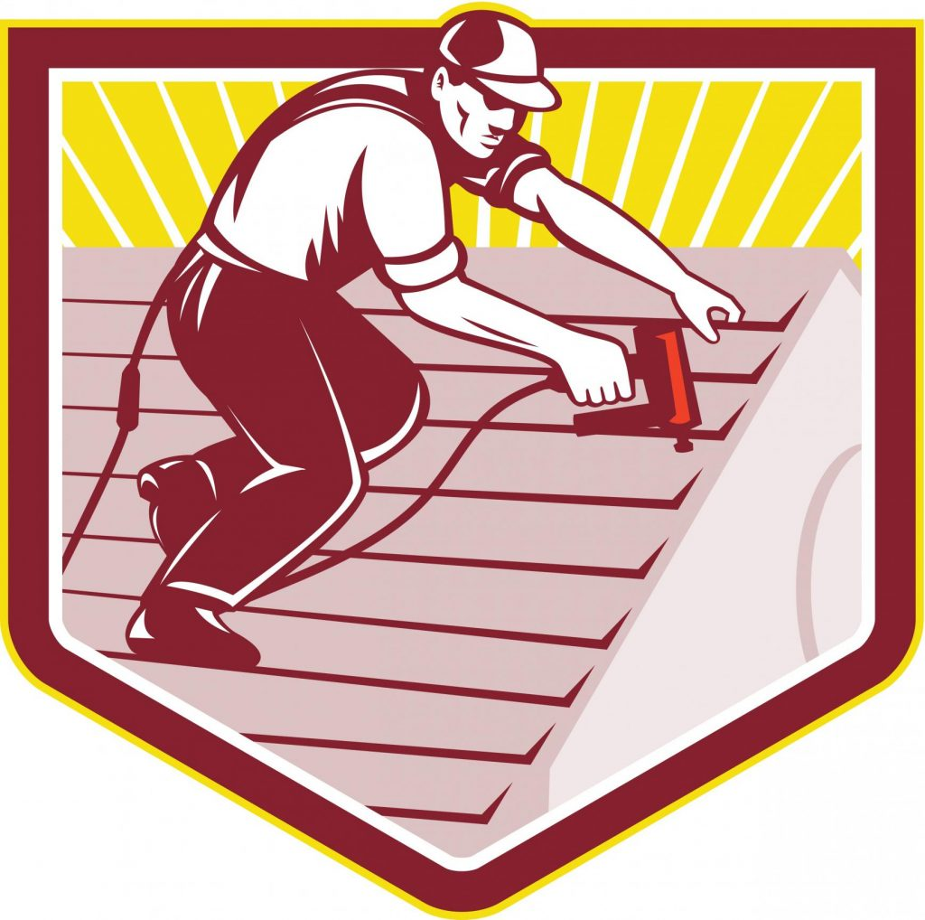 roofing contractor roofer logo