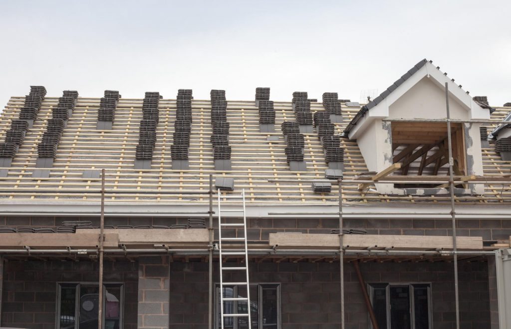 roof replacement in progress